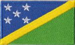 Solomon Islands Embroidered Flag Patch, style 04
